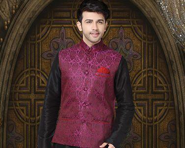 Traditional Indian Kurta Pajamas for Men - Nihal Fashions