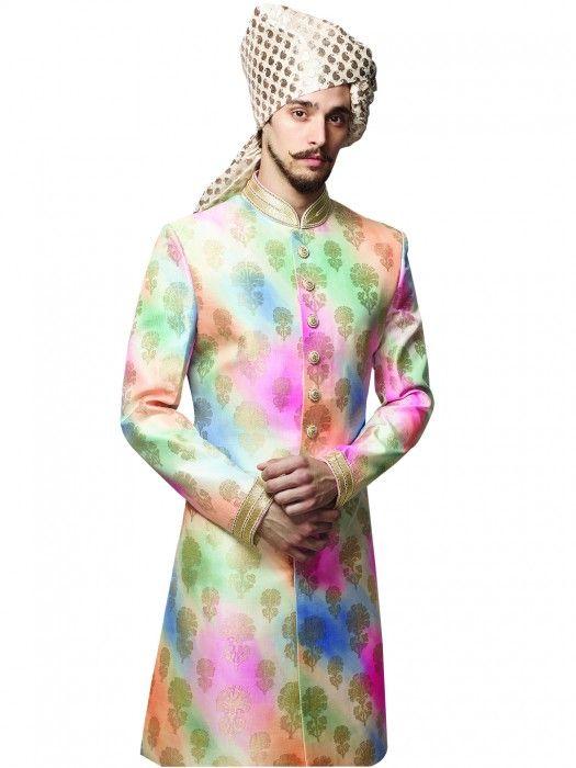 Indo Western Sherwani for Wedding - Nihal Fashions