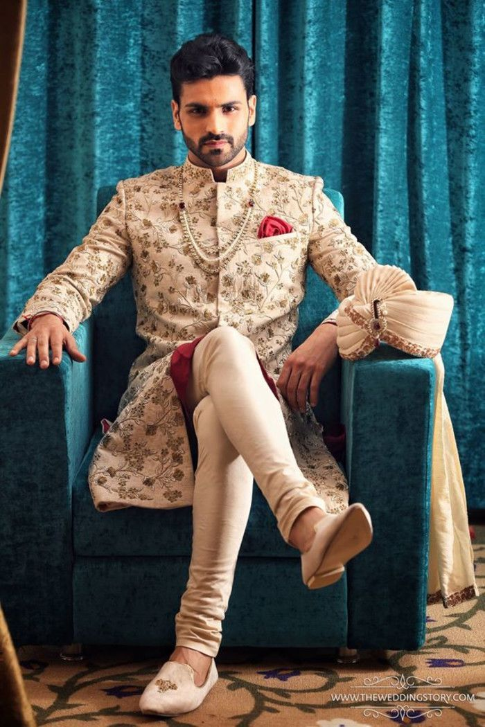 20 Latest Style Wedding Sherwani For Men And Styling Ideas - Nihal ...