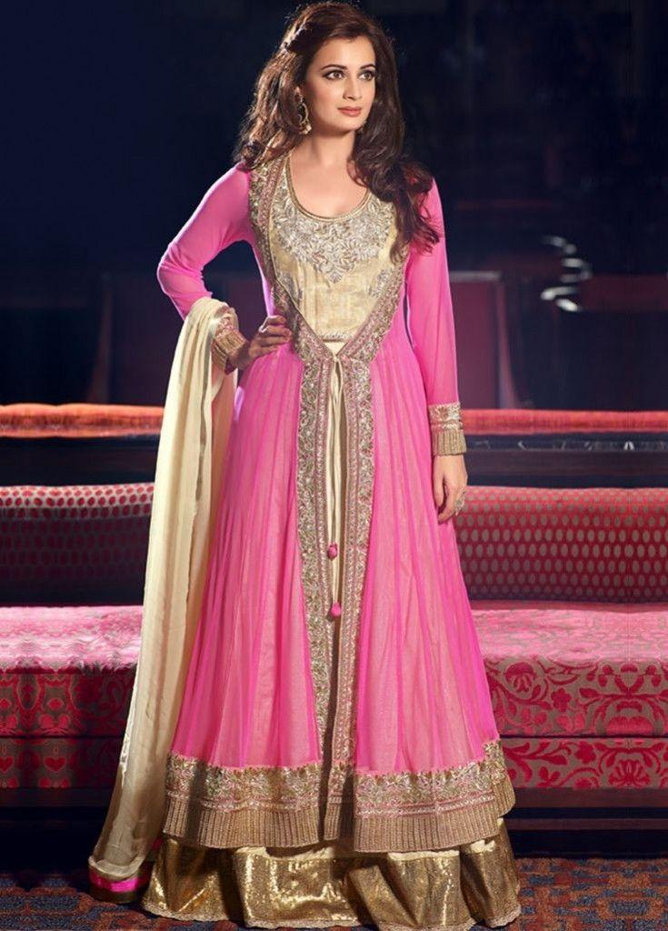 Lehenga style suit Salwar Kameez - Nihal Fashions