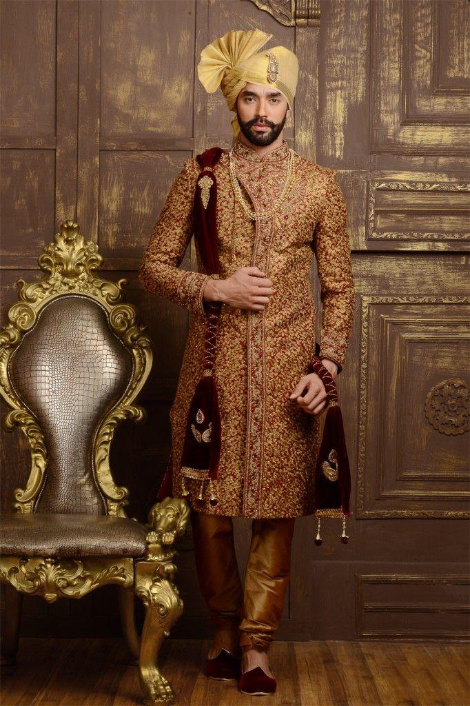 Groom's wear sherwani - Nihal Fashions