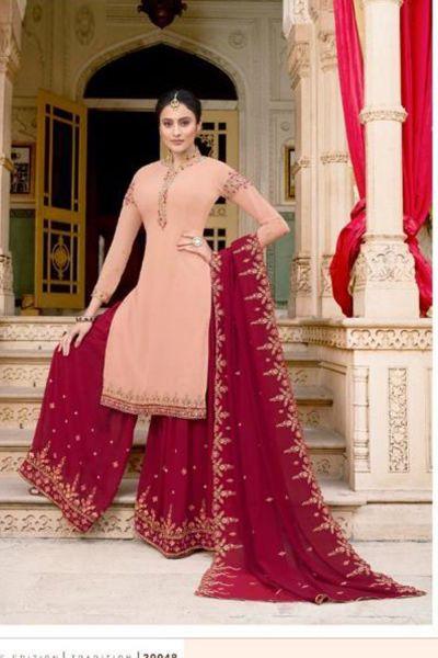 Baby Pink Soft Georgette Salwar Kameez (NWS-5073)