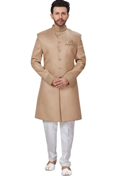 Beige Imported Mens Indo Western (NMK-4943)