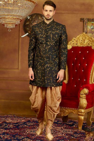 Black Art Banarasi Silk Indo Western (NMK-3920)