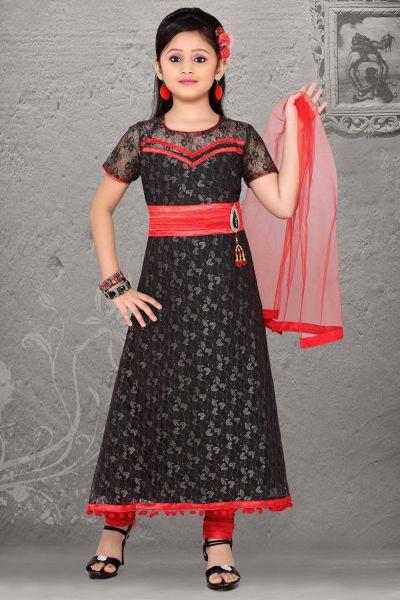 Black Color Anarkali Dress for Girls (NFG-039)