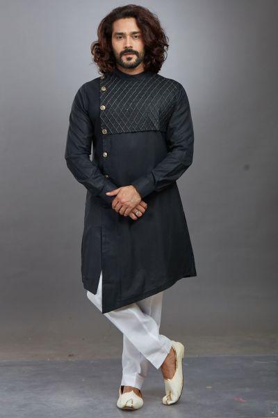 Black Ruby Cotton Kurta Pajama (NMK-4660)