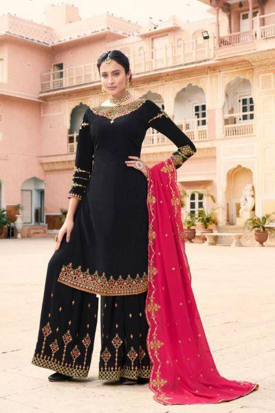 Black Soft Georgette Salwar Kameez (NWS-5068)
