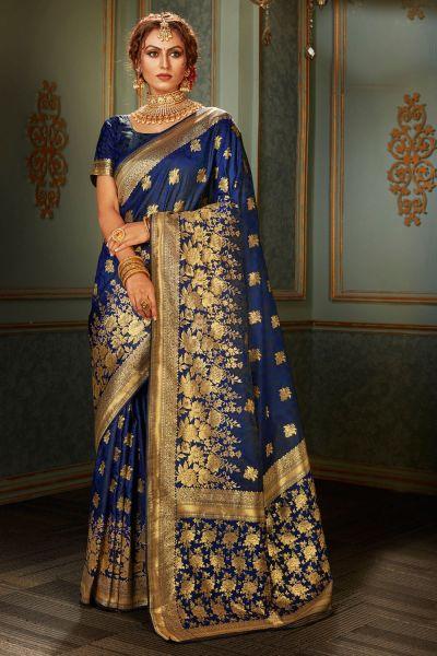 Blue Banarasi Silk Saree (NWSA-5119)