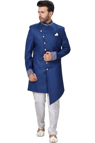 Blue Imported Indo Western for Men (NMK-4944)