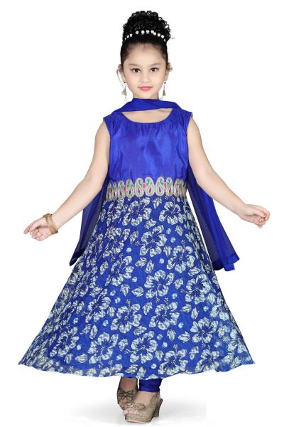 Blue Net Girls Salwar Kameez (NFG-110)