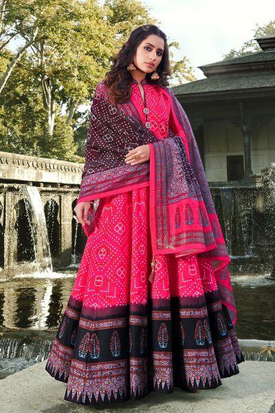 Dark Pink Silk Salwar Kameez (NWS-6019)