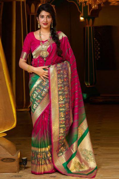 Dark Pink Soft Silk Saree (NWSA-5130)