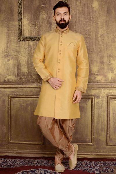 Gold Art Banarasi Silk Indo western (NMK-3596)