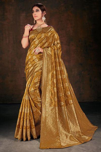 Gold Banarasi Silk Saree (NWSA-5107)