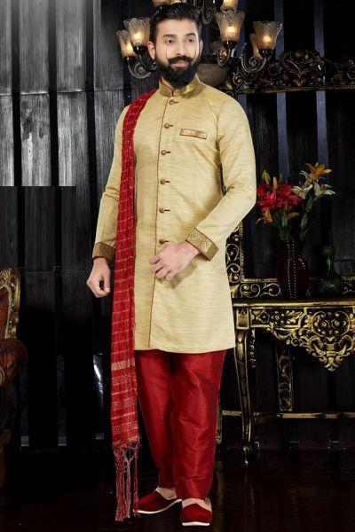 Gold Giccha Silk Indo Western(NMK-3363)