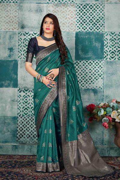 Green Banarasi Silk Saree (NWSA-4608)