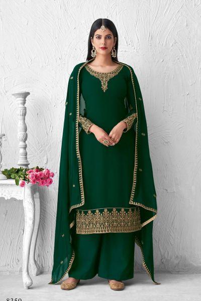 Green Georgette Salwar Suit (NWS-6026)