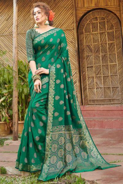 Green Handloom Silk Saree (NWSA-4984)