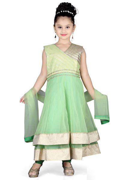 Green Net Girls Anarakali (NFG-112)