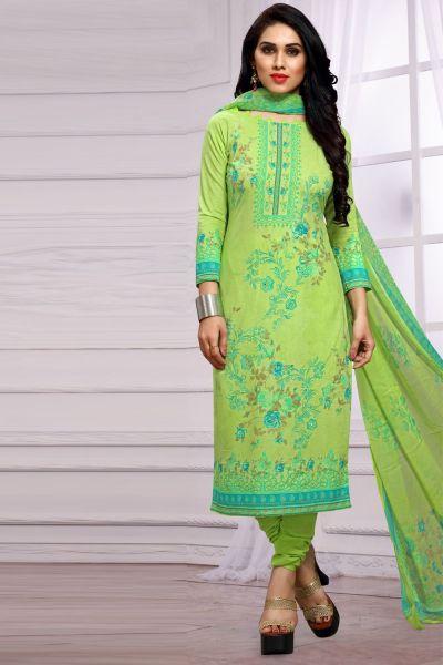 Green Pure Lawn Cotton Salwar Kameez (NWS-4872)