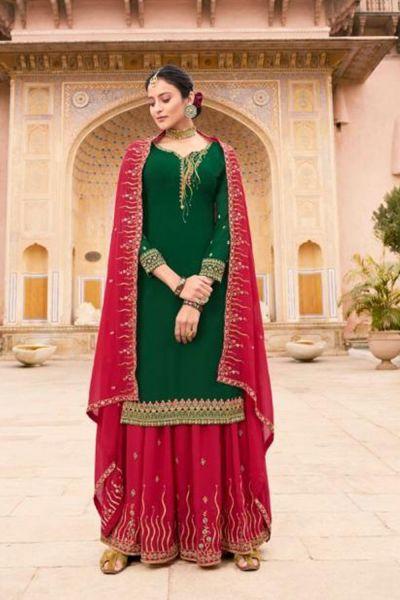 Green Soft Georgette Salwar Kameez (NWS-5069)