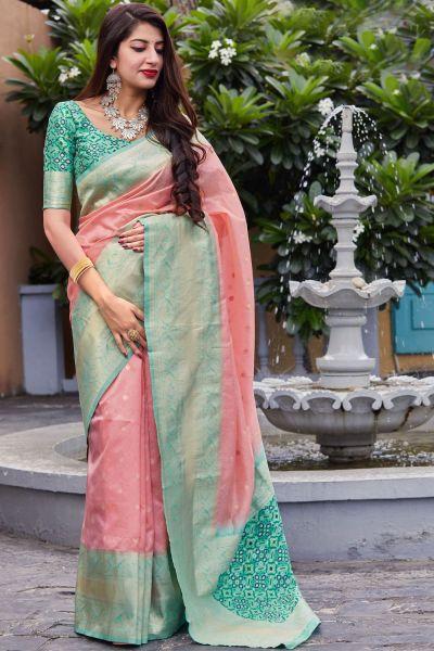 Light Pink Banarasi Art Silk Saree (NWSA-4917)