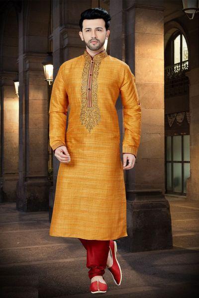 Mango Banglori Silk Designer Kurta Pajama (NMK-3775)
