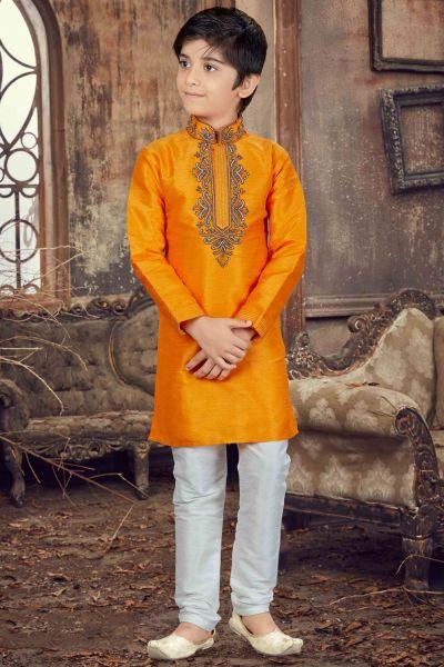 Mango Banglori Silk Kids Kurta Pajama (NKK-628)