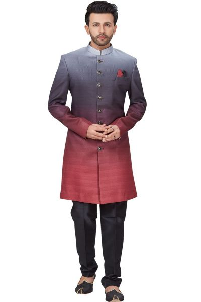 Multicoloured 3D Imported Indo Western (NMK-4938)