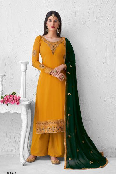 Mustard Georgette Salwar Kameez (NWS-6025)