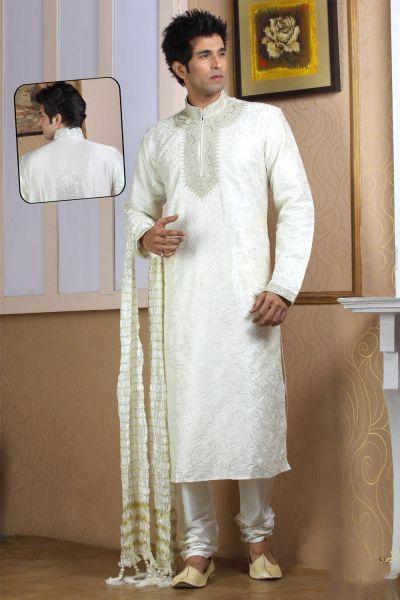 Off White Designer Kurtas for Men (NMK-768)