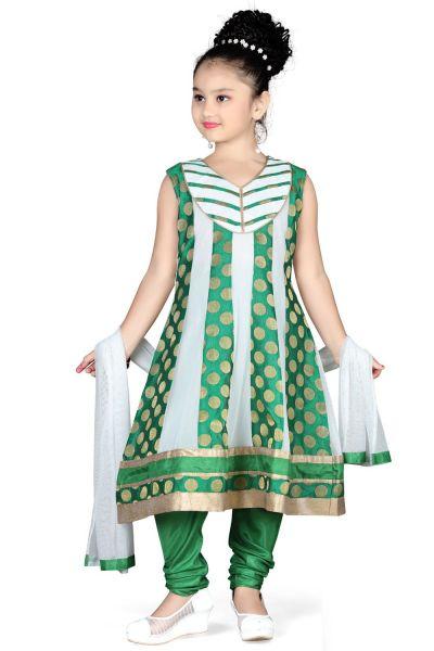 Off White Net Girls Anarkali (NFG-109)