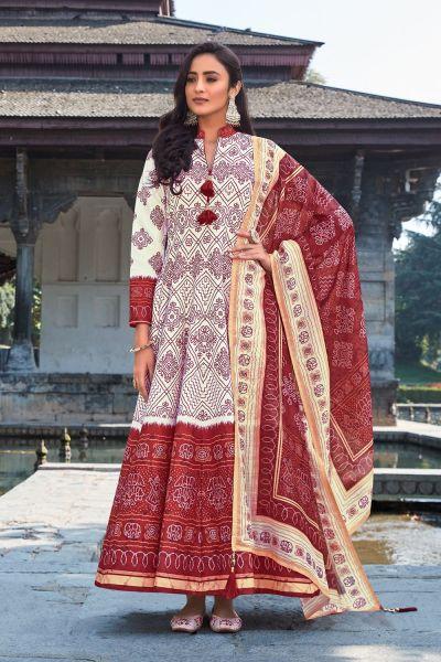 Off White Silk Salwar Suit (NWS-6021)