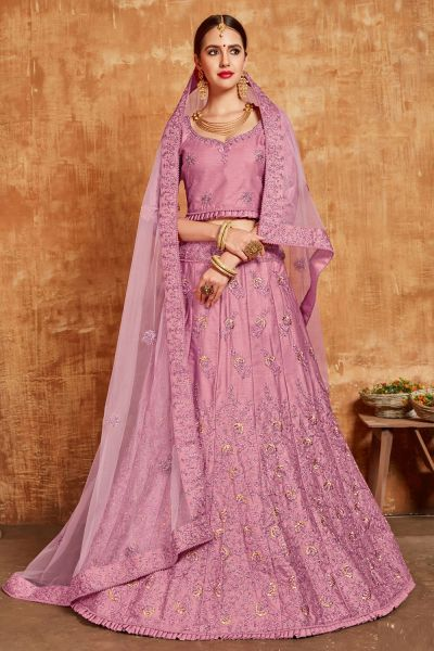 Pearly Purple Silk Lehenga Choli (NWG-399)