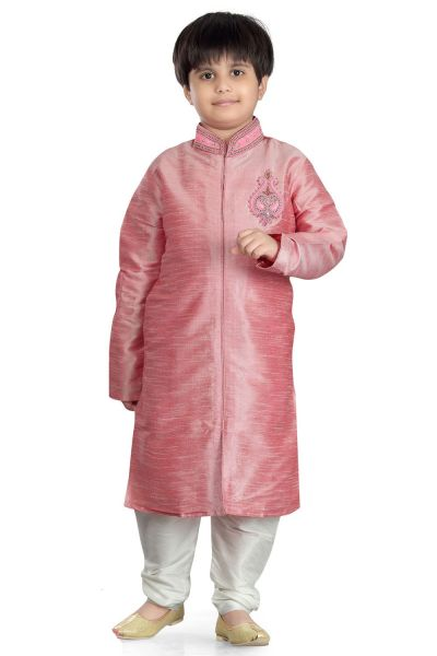Pink Art Dupion Kids Sherwani (NKK-481)