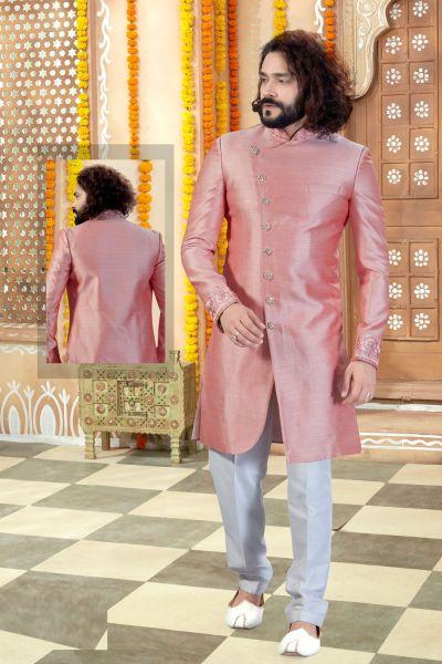 Pink Art Silk Sherwani (NMK-4354)