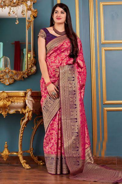 Pink Banarasi Silk Festive Saree (NWSA-4369)