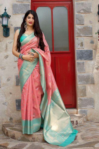 Pink Banarasi Silk Party Saree (NWSA-4367)