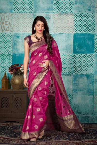 Pink Banarasi Silk Saree (NWSA-4606)