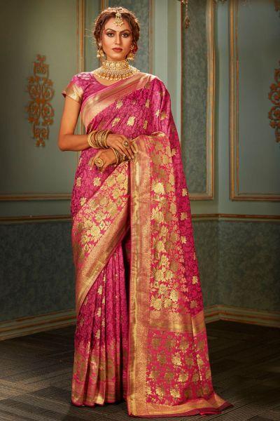 Pink Banarasi Silk Saree (NWSA-5120)