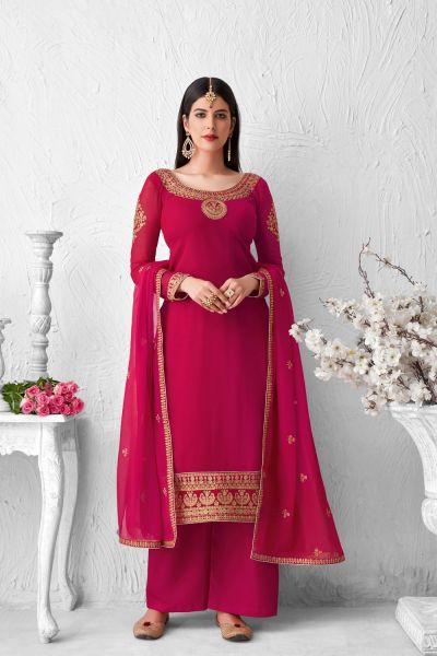 Pink Georgette Salwar Kameez (NWS-6027)