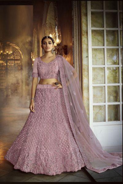 Pink Net Womens Lehenga Choli (NWG-731)