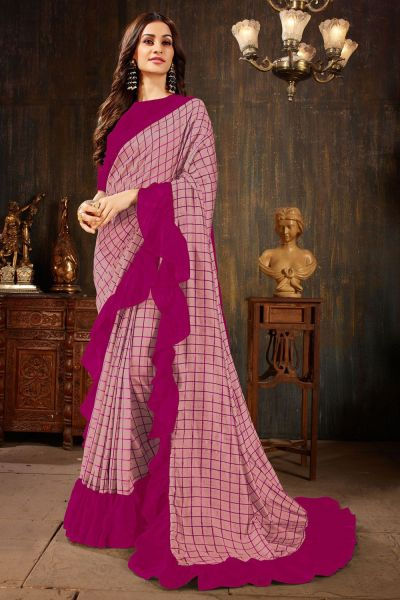 Pink Niva Silk Bollywood Saree (NWSA-4231)