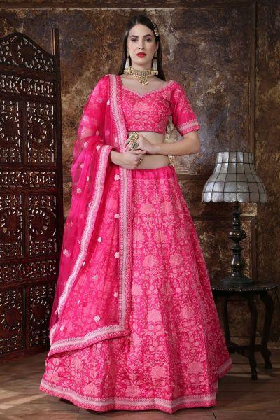 Pink Silk Festive Lehenga Choli (NWG-313)