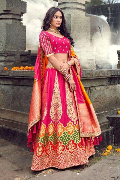 Pink Silk Lehenga Choli (NWG-468)