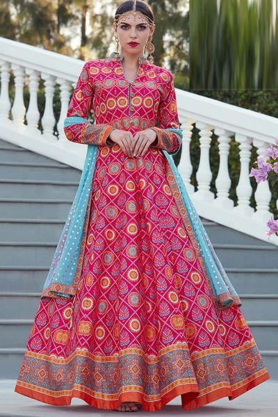 Pink Silk Salwar Kameez (NWS-4827)
