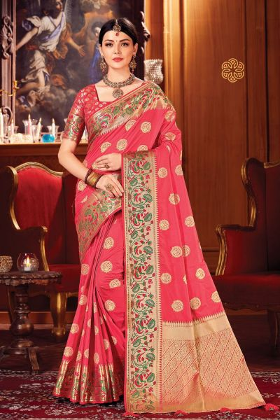 Pink Silk Saree (NWSA-5112)