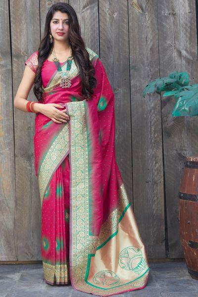 Pink Soft Silk Saree (NWSA-5132)