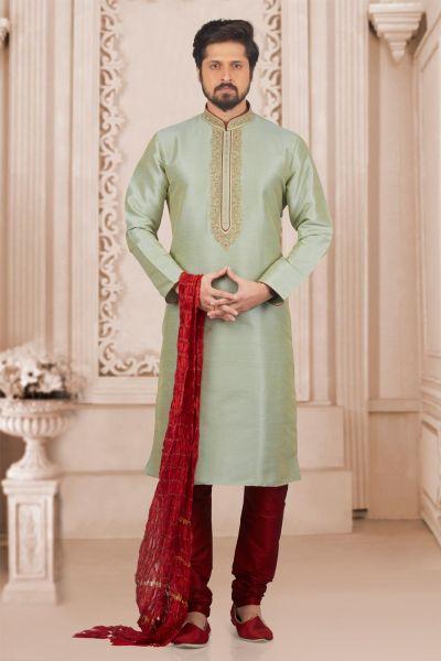 Pista Art Banarasi Silk Kurta Pajama (NMK-3993)