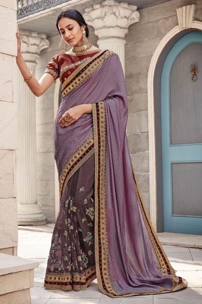 Purple Silk Saree (NWSA-5089)
